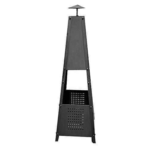 LARS360 100cm Metall Terrassenfeuer Pyramide Feuerkorb Terrassenofen Kohlenofen für Garten & Balkon