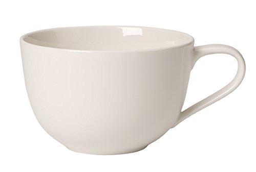 Villeroy & Boch 10-4153-1240 For Me Frühstückstasse, 0,45 l, Porzellan im puristischen weißen Design