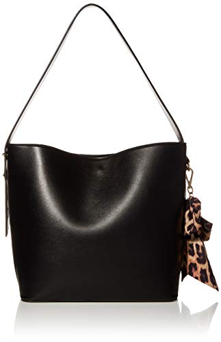 Betsey Johnson Anything But Basic Large Bucket, Black