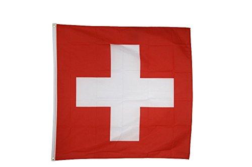 Flaggenfritze Fahne/Flagge Schweiz - 150 x 150 cm + gratis Sticker, XXL-Fahne