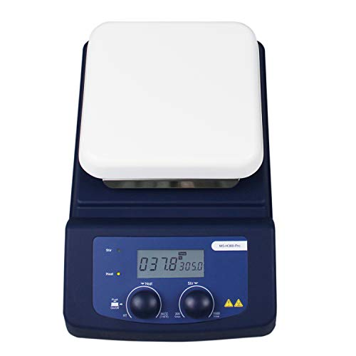 ONiLAB LCD Digital Hotplate Magnetic Stirrer with Ceramic Coated Lab Hotplate, 380℃ , 5L Stirring Capacity, 200-1500rpm, PT1000 and Stirring Bar Included