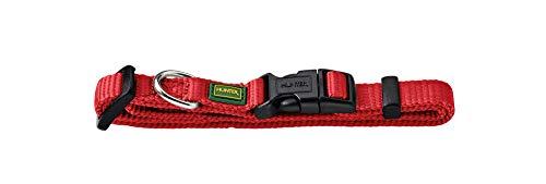 HUNTER 35390 - Collar para Perros Vario-s básicos, 30-45 cm, Nylon, de Color Rojo