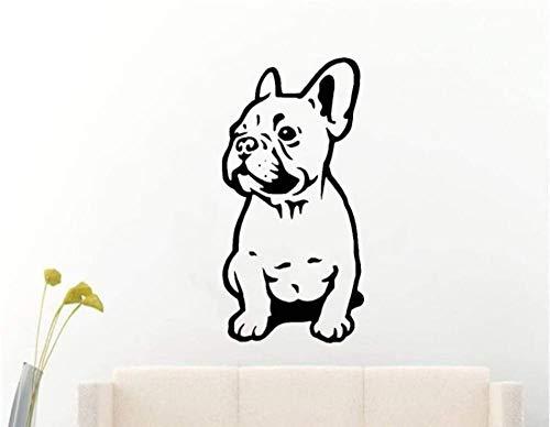 Wandtattoo Französisch Bulldogge Auto Stoßstange Zaun Hund Vinyl Aufkleber Home Dekoration 56X28 cm