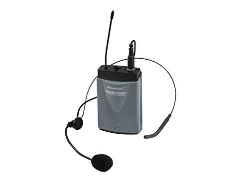 OMNITRONIC WAMS-65BT Taschensender inkl. Headset | Taschensender mit Kopfbügelmikrofon für das Modell WAMS-65BT