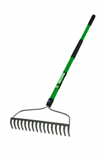 Truper 32404 Tru Tough Welded Bow Rake, 16-Teeth, Fiberglass Handle