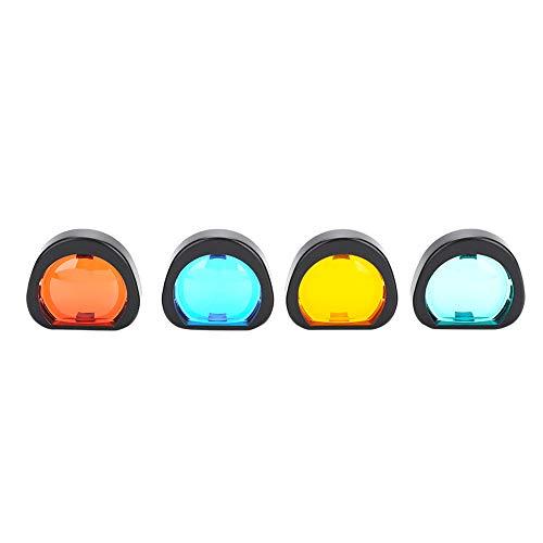 Diyeeni Bunte Linsenfilter für Instax Mini 90 Sofortbildkamera, 4 Stück (Orange/Blau/Rot/Grün)