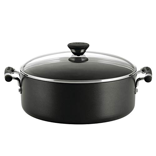 Circulon Acclaim Hard Anodized Nonstick Stock Pot/Stockpot with Lid, 7.5 Quart, Black