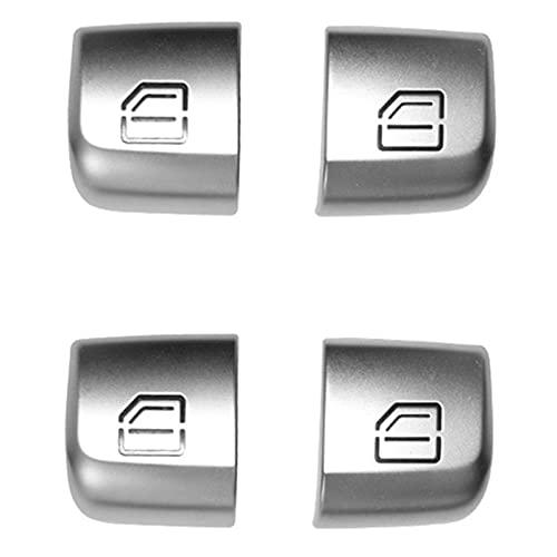 YYAN Cubierta DE BOTÓN DE Kit Abdominales Accesorios Fit Fit para Mercedes Benz C Class W205 4X