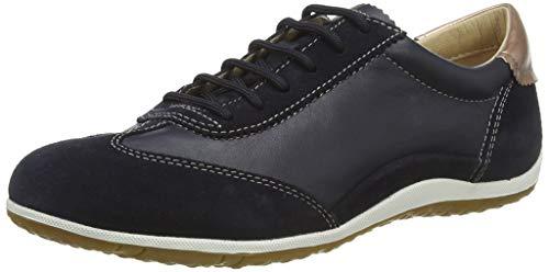 Geox Damen D Vega A Sneaker, Blau (Navy C4002), 40 EU