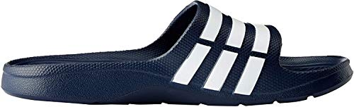 adidas Duramo Slide Chanclas Unisex adulto, Azul (New Navy/White/New Navy), 37 EU (4 UK)