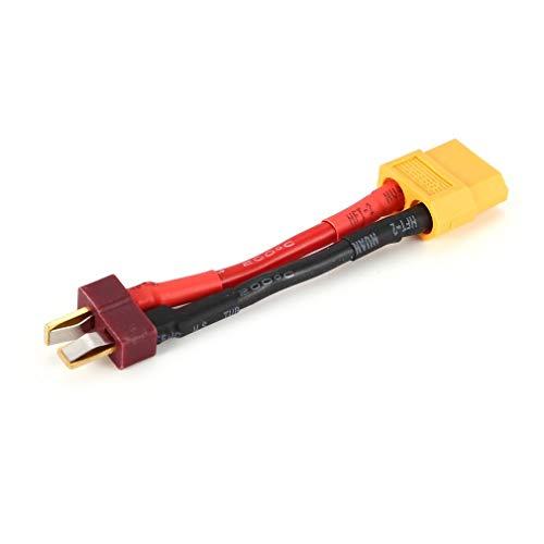 Nrew Hembra Xt60 a T-Plug Macho (Estilo Deans) Adaptador de Conector de batería Convertidor Rojo y Negro