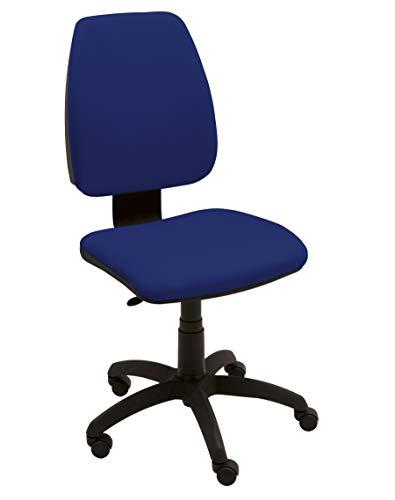 Sedia Ergonomica da Ufficio Modello Kelly Operativa su Ruote, Regolabile, Certificata 81/10, Tessuto Ignifugo Blu