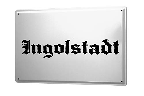 leotie fashion&lifestyle Targa in Metallo Ingolstadt Città Nome e Cognome Città Città Nome Capitale Città 20x30