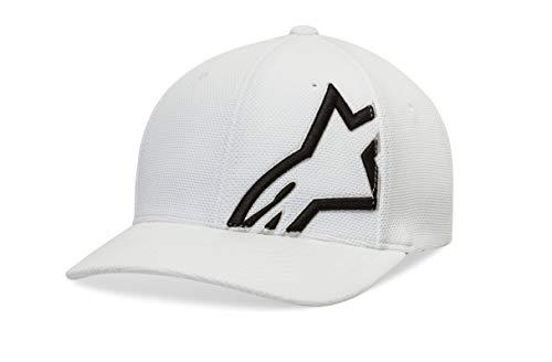 Alpinestars Herren Flexfit Cap technische mesh, gewölbtes Visier, White/Black, LXL, 1019-81104