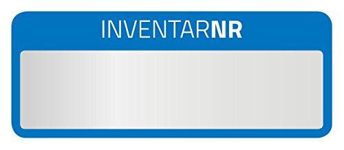 AVERY Zweckform 6906 Polyester Inventaretiketten (stark selbstklebend, strapazierbar, Kleinformat, 50x20 mm, 50 Aufkleber auf 10 Blatt) silber/blau