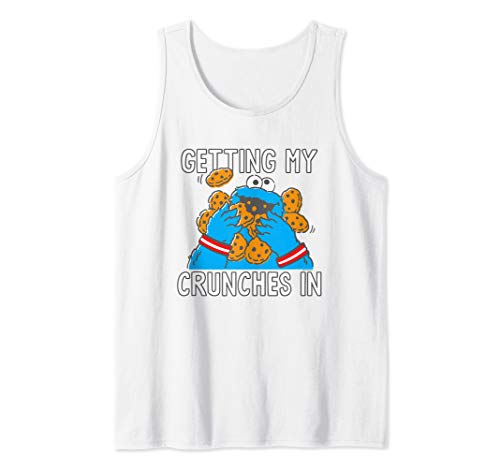 Sesame Street Cookie Monster My Crunches Tank Top