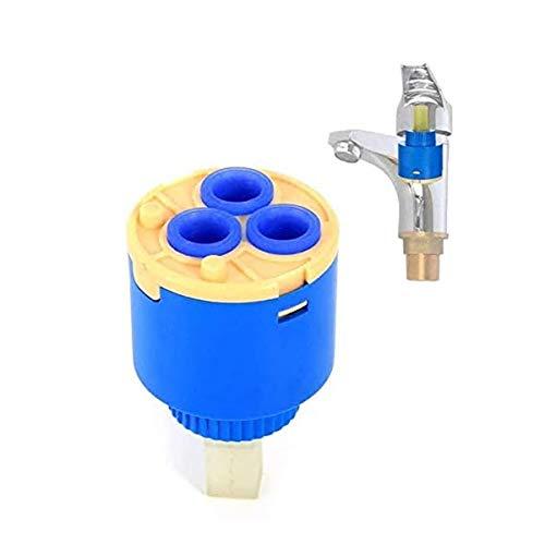 TOOLSTAR Cartucho de grifo, 1 válvula de disco de cerámica de 35 mm para cartuchos de repuesto de grifo de una sola palanca, monomando de baño o cocina (tipo A-35 mm)