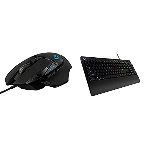 Logitech G502 HERO Mouse Gaming Prestazioni Elevate + Logitech G213 Prodigy Tastiera Gaming Cablata