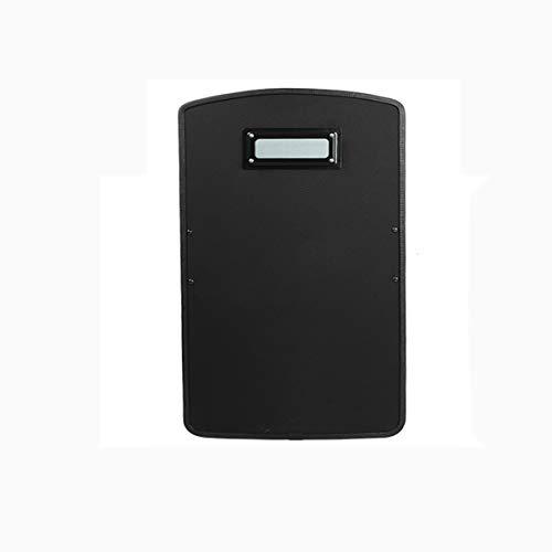 SFBOHEM Black Handheld Tactical Anti-Riot Shield Security Security Anti-Riot Shield PE Ultra Alto Molecular Terciario Terciario A Prueba De Balas Y Escudo A Prueba De Explosiones