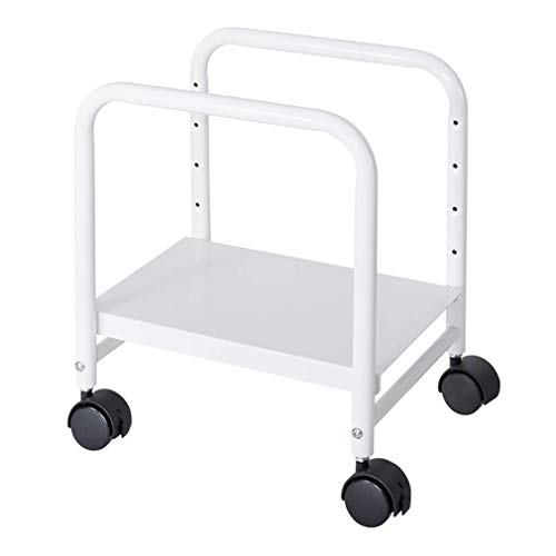 ZXY-NAN Hairdresser Computer Cart Height-Adjustable Mobile CPU Stand Suitable for Sit Stand Desk Converters Storage Beauty Service Trolley