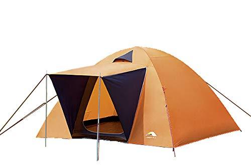 dwt Camper II Campingzelt orange Doppeldach-Kuppelzelt Camping Outdoor für 2-4 Personen Igluzelt in 3 verschiedenen Größen Touringzelt, Größenauswahl:Gr. 3