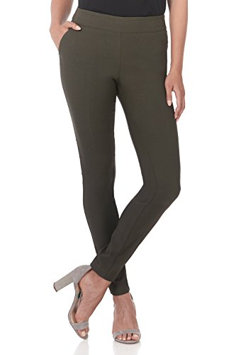 Rekucci Women's Ease into Comfort Modern Stretch Skinny Pant with Tummy Control (14,Olive)
