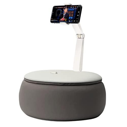 EtexFan Soporte De Almohada para Tablet - Almohada Soporte Sofá Cama para iPad Samsung Tab, iPhone, Otras Tablets, Gris, Naranja