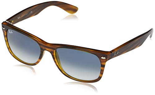 Ray-Ban 0RB2132 Gafas, STRIPED RED HAVANA, 55 Unisex