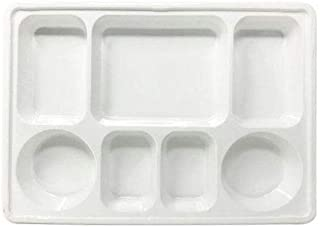 Quality Disposable Plastic Plates With 7 Compartments By Ekarro - Pack of 200 Pieces