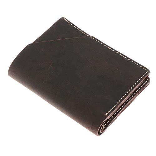 Sharplace Portafoglio da Uomo Portfolio di Pelle Pu Mini Portafoglio ID Carte di Credito Portamonete - Marrone Scuro