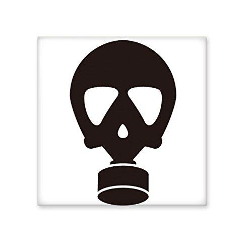 Zwarte menselijke Skelet Verontreiniging Gas Masker Silhouette Patroon Keramische Bisque Tegels voor het verfraaien Badkamer Decor Keuken Keramische Tegels Wandtegels S