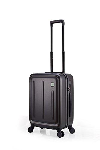 Lojel Strio Upright Spinner Luggage, Meltallic Grey, 21 Inch (Carry-on)