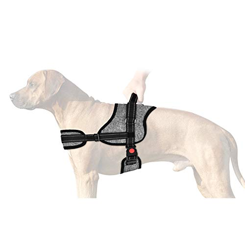 SlowTon No Pull Dog Vest Harness, 2018 New Generation Adjustable Neck Strap Chest Strap Breathable Padded Vest with Top Handle Harness with Locking Buckle for Large Dog Training Walking