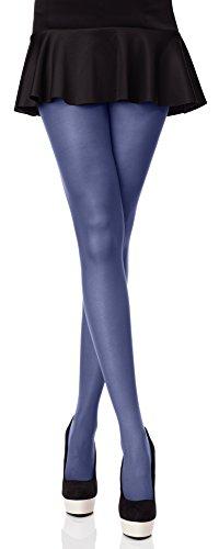Merry Style Bunte Damen Strumpfhose Microfaser 40 DEN (Jeans, 4 (40-44))