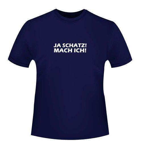 Cre9tive Shirts Oui. au trésor Mach Je, T-Shirt – Commerce équitable ID 100016 S Bleu