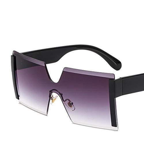Sonnenbrille Sunglasses Stil Quadratische Sonnenbrille Frauen Metall Gradient Randlos Einteilige Brille Trend Männer Und Frauen Wild Big Box Oculos De Sol 8