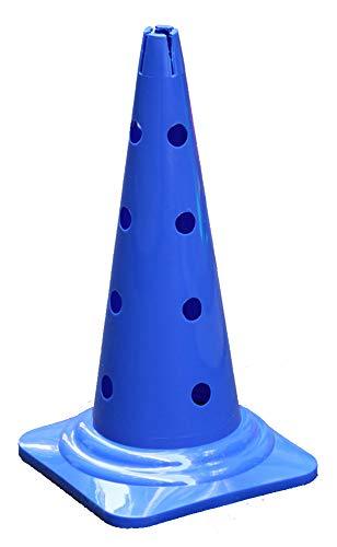 Boje Sport - Agility Dog Sport - Cono Multiuso con Fori, 50 cm, Colore: Blu