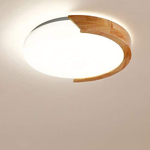 Mogicry Handelsgeschäfts-Haushalts-energiesparende LED-Glaslampe modernes rundes Schlafzimmer-Küche-Wohnzimmer-Küche LED Iight hölzernes Eisen Dimmable Dekoration-Beleuchtungs-Deckenverkleidung-Licht