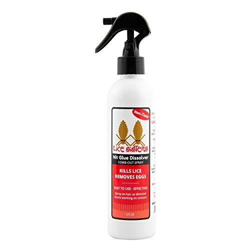 Lice Sisters Head Lice Treatment - Non-Toxic, Natural Spray Treatment. Kills Lice and Eliminates Eggs, 8 oz.