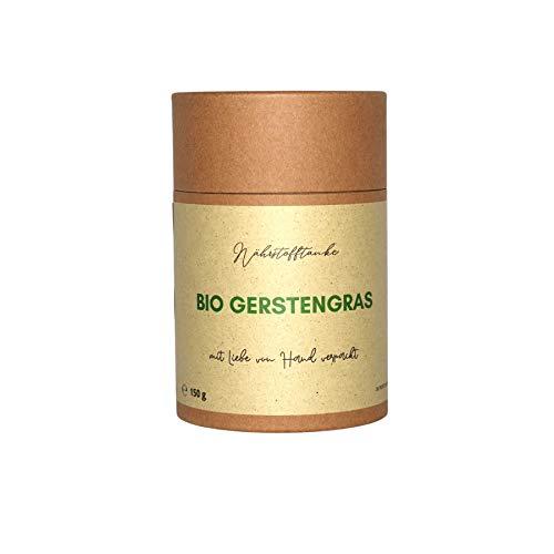 Bio Gerstengras Pulver 150g│ Beste Qualität aus Deutschland & Österreich │ 1 Dose = 1 Baum │ Wir sagen nein zu Plastik │ Vegan │ Ohne Zusatzstoffe