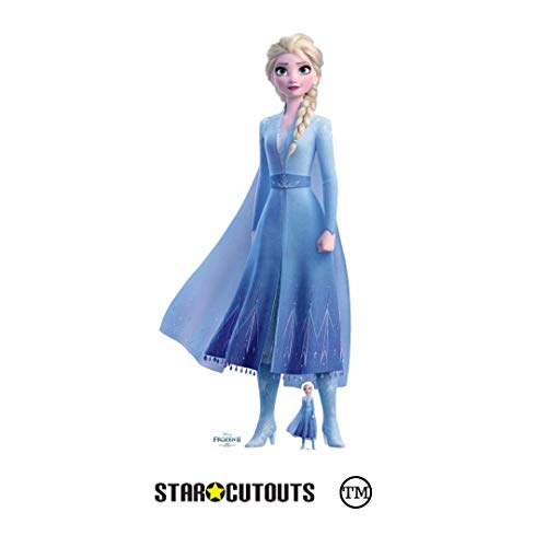Star Cutouts SC1330 Ltd Elsa Princess of Arendelle 2, perfecto para fanáticos de Frozen, fiestas y eventos, altura 182 cm, ancho 83 cm, multicolor
