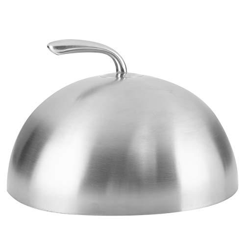 Onlyfire 27,9 cm BBQ Edelstahl Käse Schmelzkuppel und Dämpferabdeckung mit Griff für Flache Grillroste und andere Grills drinnen und draußen