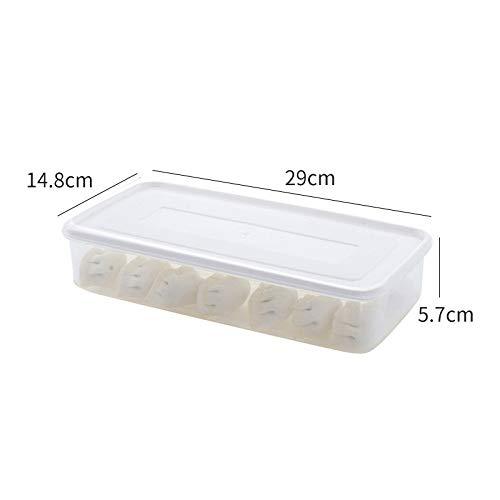 Huishoudelijke koelruimte conservering opbergdoos meerlaags doos keukenblad keuken voedsel opbergdoos plastic knoedel opbergdoos transparante koelkast voedselcontainer rek