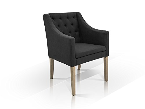 moebel-eins Carlos Polstersessel Sessel Esszimmerstuhl Esstischstuhl Stuhl Polsterstuhl Material Stoff/Massivholz