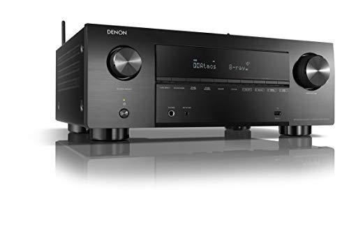 Denon AVC-X3700H 9.2-Kanal AV-Verstärker, Hifi Verstärker, Alexa kompatibel, 7 HDMI Eingänge und 3 Ausgänge, 8K-Video, Bluetooth, WLAN, Musikstreaming, Dolby Atmos, AirPlay 2, HEOS Multiroom, Schwarz