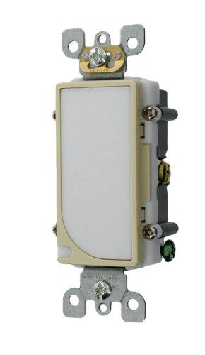 Leviton 6527-I 120V AC Decora LED Full Guide Light, Ivory