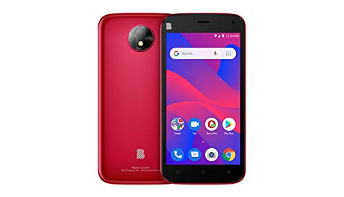 BLU C5 2019 (RED) Android Cell Phone 5''Display 16GB Internal Memory Dual Camera