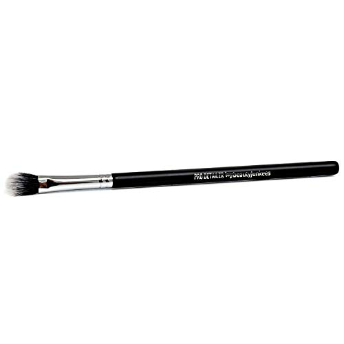 Nose Contour Makeup Brush - Beauty Junkees Pro Detailer with Dome Bristles for Precision Contouring the Nose, Lips and Eyes with Cream, Powder and Mineral Cosmetics; Soft Synthetic Vegan Cruelty Free