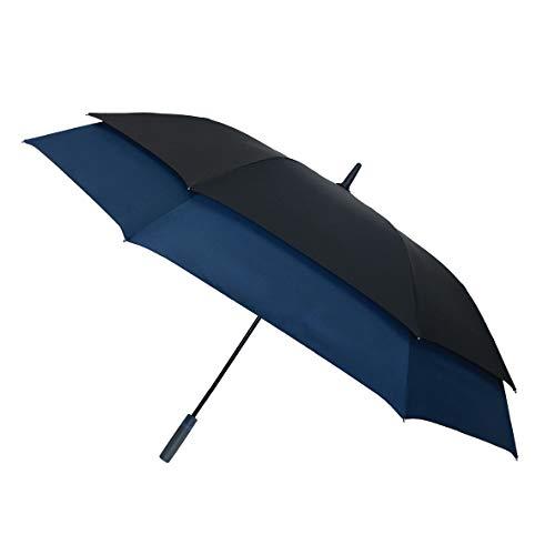 Smati SA33790 paraplu, 100 cm, zwart en blauw