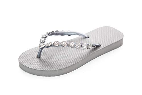 Designer Flip Flops-Chanclas Made by Simone Herrera-Luxury Footwear-Lisa-Riemchen Sandale Zehentrenner